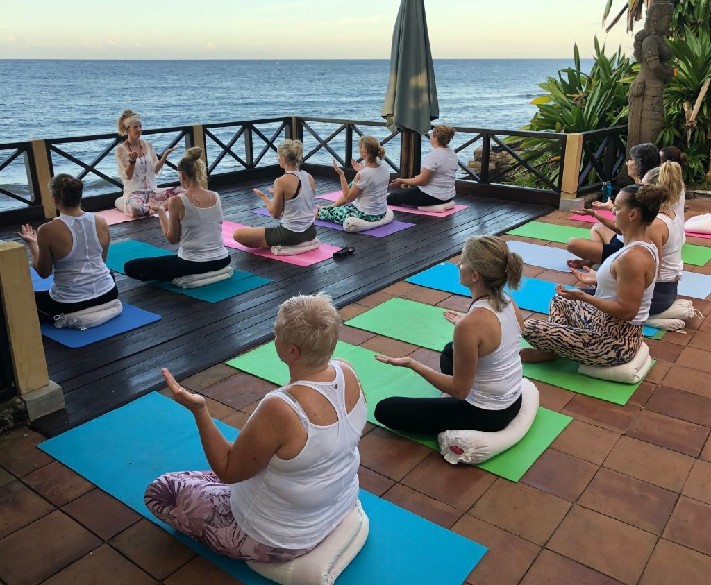 Yoga, meditation, healthy organic local food in a secluded luxury retreat location in Bali.